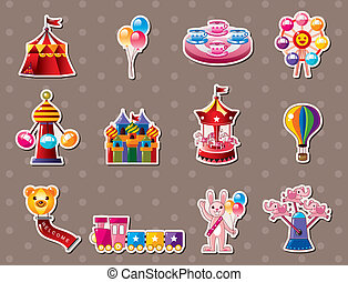 cartoon Playground stickers