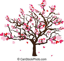 Abstract heart shape tree - Vector Designed EPS10