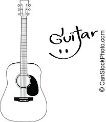Acoustic Guitar - Vector Designed EPS10