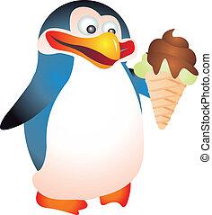 Penguin vector - Penguin isolated on white background....