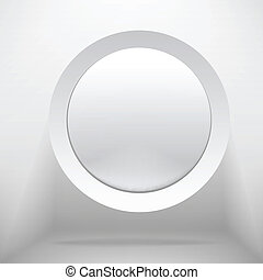White circle plastic buttons background