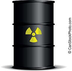 radioactive waste barrel
