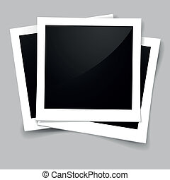 foto frames - illustration of stack of retro style foto...