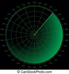 radar screen - detailed illustration of a blank radar screen...