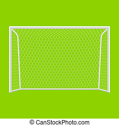 Soccer goal front view vector illustration