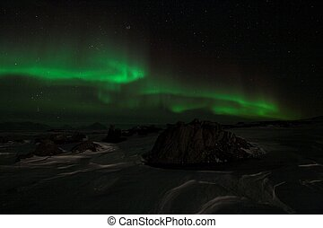 The magic of the Northern Lights - Natural phenomenon of...
