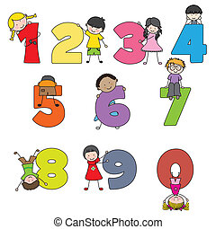Learning to read - numbers fun with children. Learning to...