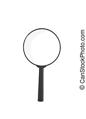 Magnify glass on white background