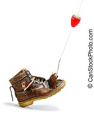What disappointment! a shoe instead of a fish - Catching an...