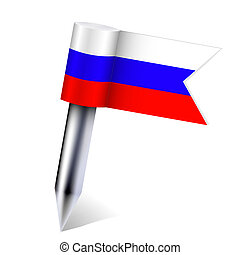 Vector Russian country flag isolated on white Eps10