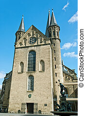 Minster, one of the oldest churches in Germany, emblem of...