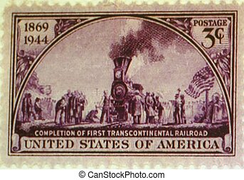 POSTAGE STAMP, UNITED STATES - a 1944 United States postage...