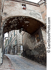Alley in the historic center of Perugia