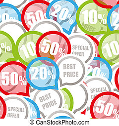Color Discount labels seamless background