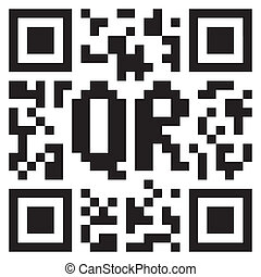 Monochrome QR code abstract template
