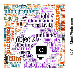 Photography info-text concept