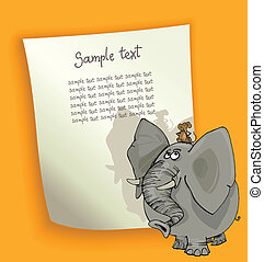 cartoon design with elephant and mouse
