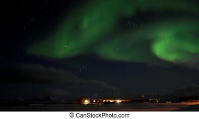 Northern Lights - Svalbard, Arctic - Natural phenomenon of...