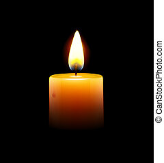 yellow candle - Vector illustration of yellow candle on...