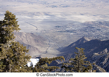 Ariel View Palm Springs USA - Birds eye view of Palm Springs...
