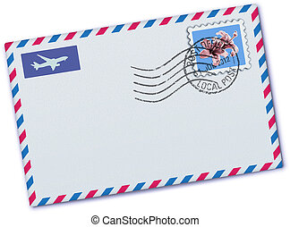 airmail envelope - Vector illustration of blank airmail...