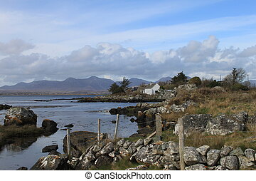 Connemara landscape - A coastal landscape in Connemara,...