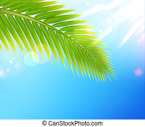 tropical summer background - Vector illustration of tropical...