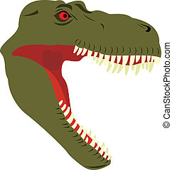 Head of a dinosaur Predatory mouth Sharp teeth Terrible...