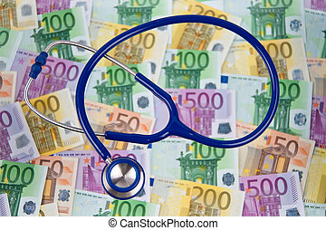 many euro bank notes with stethoscope cost contrueces - many...