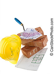 construction, financing, building society. bricks and €