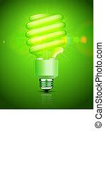 fluorescent lightbulb - Vector illustration of classy energy...
