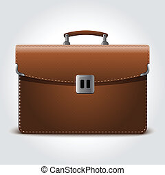 Business brown briefcase on blue - Business brown briefcase...