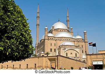 egypt, cairo. mohammed ali mosque. outside. - egypt, cairo....