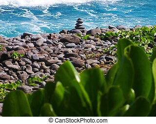 Stack of stone at the beach