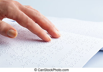 braille and finger book in braille - fingers and braille...