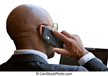 Modern Mobile Business Man - A business man in his early 30s...