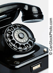 old, antique telephone - an ancient, antique telephone....