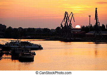 slovakia, the industrial port of komarno - the industrial...