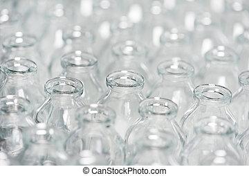 pharmacy medicine container glassware background - close-up...