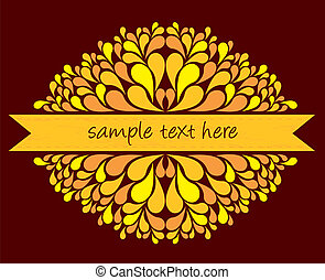 yellow ribbon with decoration