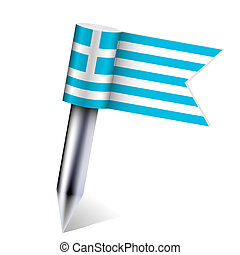 Vector Greece country flag isolated on white. Eps10
