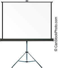 Projection screen - Screen with copy-space, place your own...