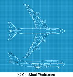 B747 - high detailed vector illustration of modern civil...