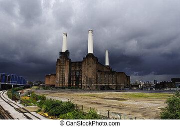 Battersea power plant in London, UK