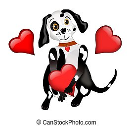 Dog and Hearts