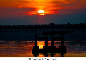 River Bridge Sunrise