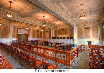 Courtroom - Arkansas Supreme Courtroom with morning light...