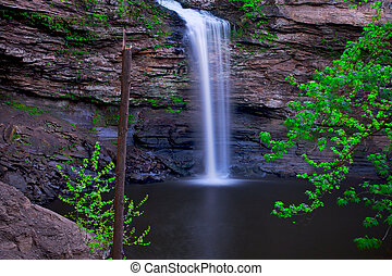 Cedar Falls - Serene natural water fall, long exposure...
