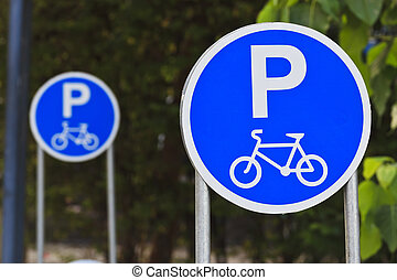 Sign for bicycle parking