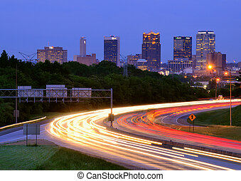 Birmingham, Alabama Skyline - BIRMINGHAM, ALABAMA - APRIL...